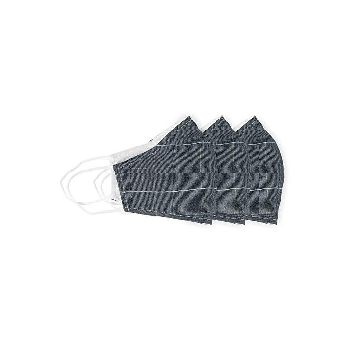 41mda6fl76L Ahorre 7,60 Euro al comprar 3 paquetes. Incluye bolsillo de doble capa para filtro opcional con sistema de inserción (filtro no incluido). La cubierta facial de la máscara de tela se puede usar sin filtro. Puede utilizar filtros desechables de filtro PM2.5 o de café de papel. Recomiendo reemplazar su filtro desechable con cada uso. Lavado a máquina lavable reutilizable en agua fría y colgar para secar. Conservador pizarra azul plaid tres paquetes máscara de tela se hace rayón para un aspecto refinado y elegante 100% Algodón