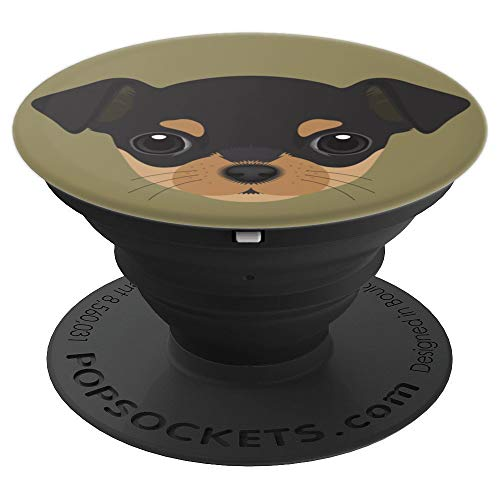 (Chihuahua Dog Puppy Cute Pop Chihuahua Mom Dad Gifts - PopSockets Grip and Stand for Phones and)