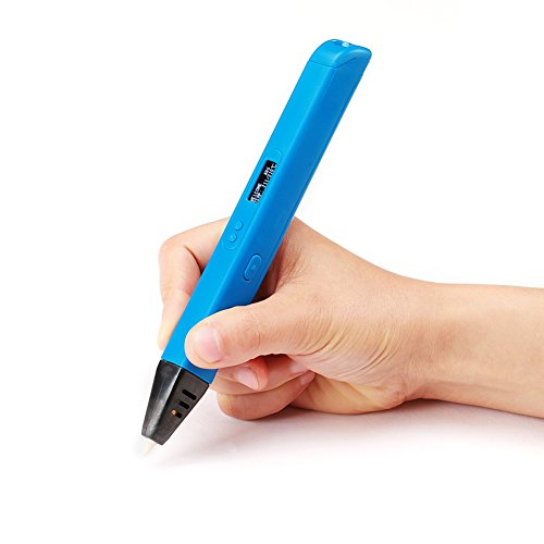 Soyan Professional 3D Pen with OLED Display Comes with ABS Filament Sample and Drawing Templates (Blue) by Soyan (Image #1)