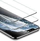 ESR iPhone 11 Pro Max/iPhone Xs Max 用 新版強化ガラス液晶保護フィルム【2枚セット】【ガイド枠付き】サイドベゼルなし/3倍強化/貼り付け簡単 ( 6.5 インチ iPhone 用 保護フィルム )