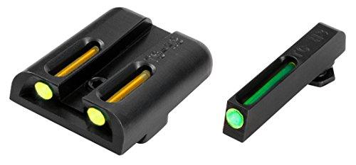 Truglo Night Sights - TRUGLO TFO Handgun Sight Set - Glock Low - Green/Yellow Rear