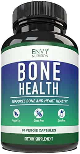 Bone Health Supplements - Vitamins K2 (MK7) &D3 Plus Calcium – Promotes Bone Strength & Hearth Health for Men and Woman – Enhanced Absorption with 5mg of BioPerine ; 30 Day Supply