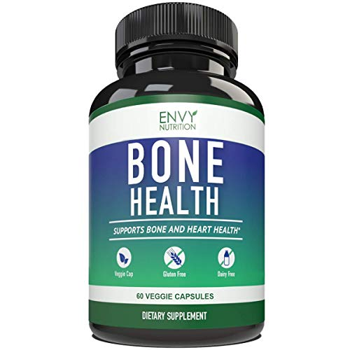 Bone Health Supplements - Vitamins K2 (MK7) &D3 Plus Calcium - Promotes Bone Strength & Hearth Health for Men and Woman - Enhanced Absorption with 5mg of BioPerine ; 30 Day Supply