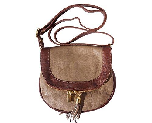 bolsa de hombro pequeña 238 S Gris pardo oscuro-marrón