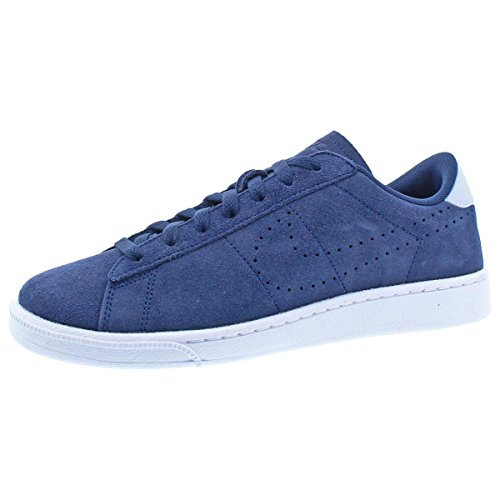 f5063e26ceac7 Nike Mens Tennis Classic White/Orion Blue Ankle-High Suede Fashion Sneaker  - 9M