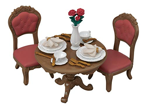 Calico Critters, Town Series, Furniture Sets, Doll House Furniture, Calico Critters Chic Dining Table Set (Chic Furniture)