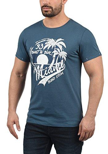 Girocollo Taschino 70260 Perry Stampa A Blend shirt Magliette Blue Con Maniche Da T Corte Uomo Ensign Pxx7Zdp