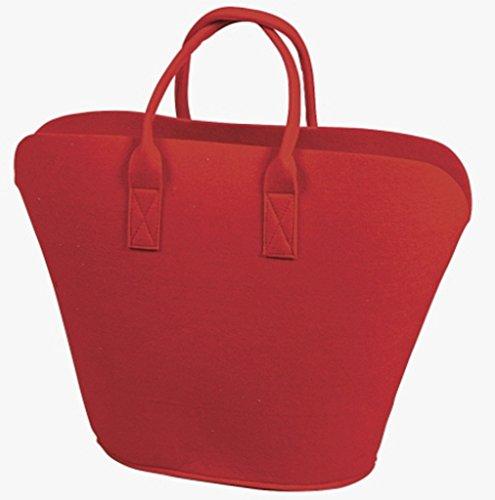 Borsa in feltro con 2 manici, colore rosso