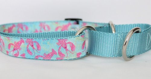 Beach Biscuit Martingale Dog Collar Lovely Lobster 1