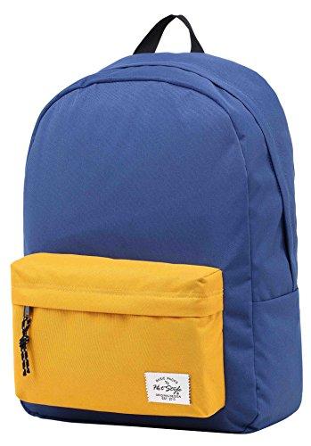 Unisexs Travel Bag Backpack Polyester Outdoor Backpack (Navy blue) - 3