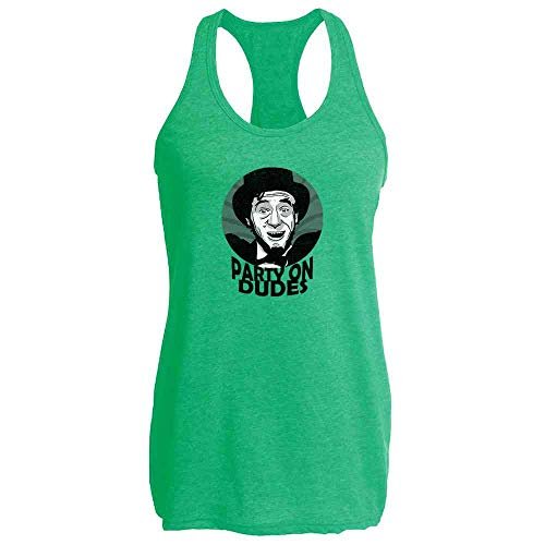 Party On Dudes Abe Lincoln Heather Kelly M Womens Tank Top ()