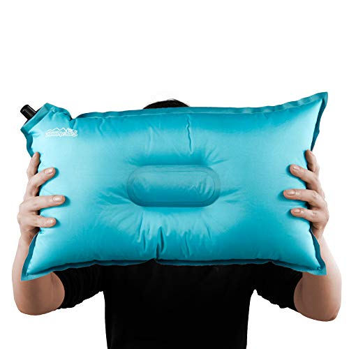 Boundary Life USA Inflatable Camping Pillow Compressible Backpacking and Travel Pillows Blow Up Lumbar Support for Airplane or Car Lightweight Travel Air Pillows