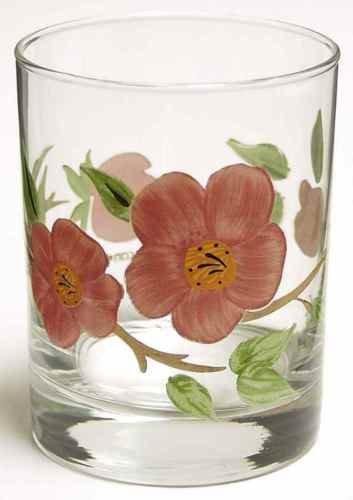 Vintage FRANCISCAN DESERT ROSE Rocks High Ball Tumbler Glass 12 Oz (Vintage Franciscan Ware)