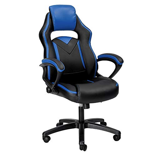 Merax Office Chair Computer Gaming Desk Chair Racing Style Ergonomic Design Office Chair (Blue 2)
