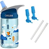 CamelBak Eddy Kids Water Bottle, Alpine Adventure, 0.4L with Bottle Accessory 2 Bite Valves/2 Straws