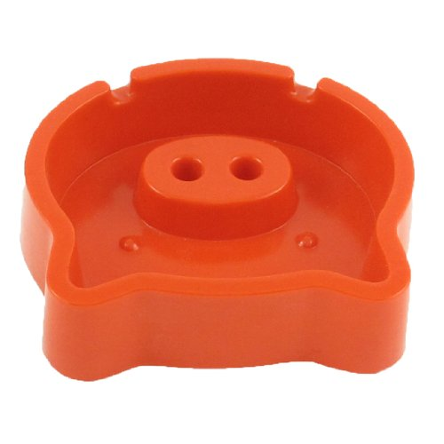Cartoon Pig Design Plastic Ashtray for Home Office Cafe Orange