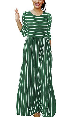 long sleeve a line maxi dress - 9
