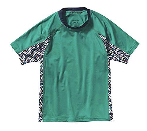 Patagonia Girls' Rashguard Shirt (Child Extra Small XS) Green Print Rash Guard patagonia rash guard 13