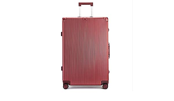 Color : Local Gold, Size : 29 Tjtz PC Aluminum Frame 25 inch Trolley case Business Travel Retro Suitcase