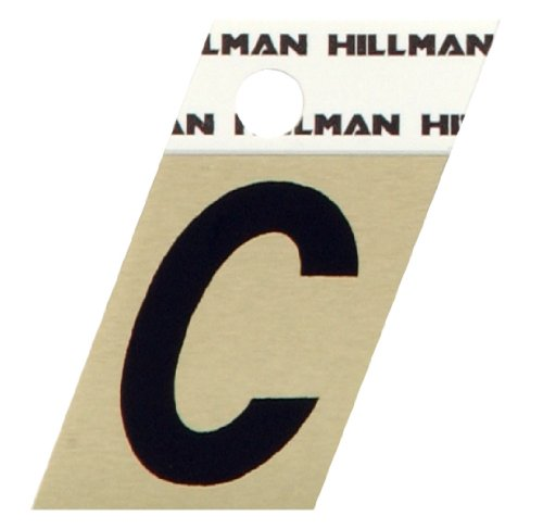 The Hillman Group 840498 1-1/2-Inch Aluminum Angle-Cut Letter C