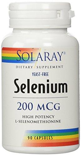 Solaray Selenium 200 Mcg Yeast-Free, 90 Count