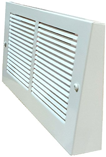 White Projection Baseboard Return Air Grill - 6 Duct Opening Sizes to Choose From (30