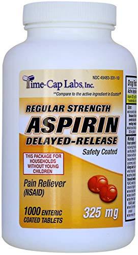 - Aspirin Adult Regular Strenght Enteric Coated 325 mg Generic for Ecotrin Bayer Aspirin 1000 Tablets Per Bottle