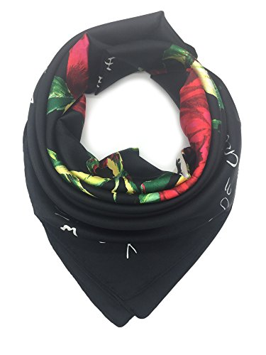 - YOUR SMILE Silk Like Scarf Women's Fashion Pattern Large Square Satin Headscarf Headdress (2)