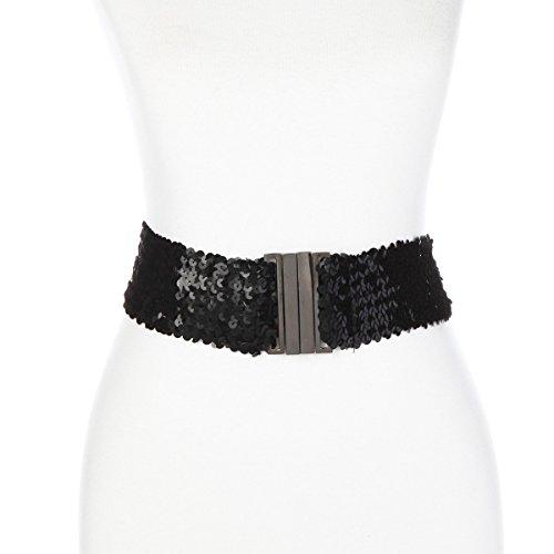 Slinky Brand Sequin Elastic Belt 2X/3X: approx. 41