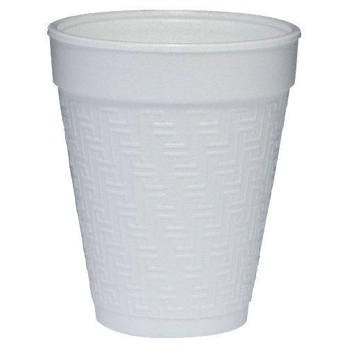 Dart 10KY10 10-Ounce Capacity 3.9 Inch Height Small Drink Embossed Foam Cup (Case of 1000)
