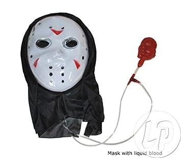 Lote/Conjunto de 3 Piezas - Máscara de Freddy con Bomba de Sangre Falsa