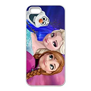 DAZHAHUI Frozen Princess Elsa and Anna Cell Phone Case for Iphone 5s
