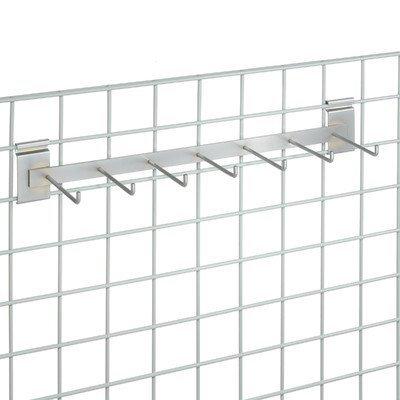 - Nexel ARB7 Hook Rail Bar, 24 L with 7-5 L Hooks, Chrome Finish, Chrome by Nexel
