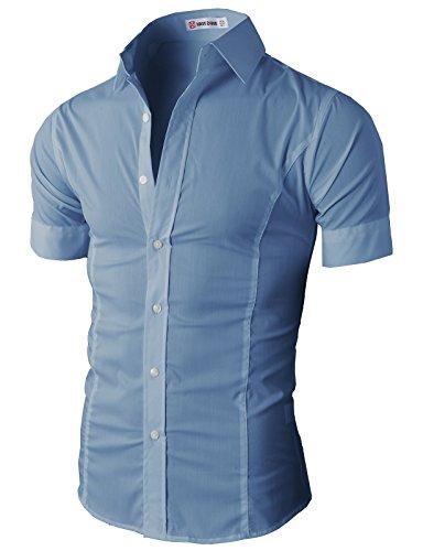 Buy mens rayon polyester dress shirts - 5