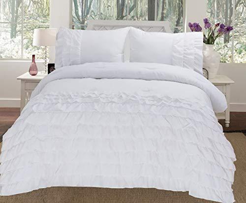 Kaputar Katy 3 Piece Mini Ruffle Comforter Set Bed Cover Model CMFRTRSTS - 5376 | Twin Size