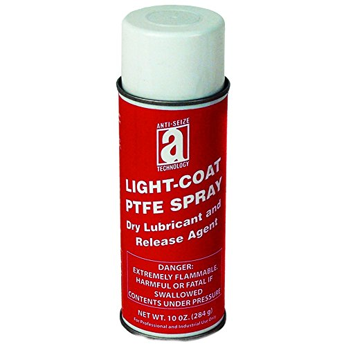 ANTI-SEIZE TECHNOLOGY 17075 PTFE Spray, Light Coat, 10 oz Aerosol - Lubricants Release Mold