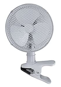 Optimus F-0702 7-Inch 2-Speed Personal Adjustable Clip-On Fan, White