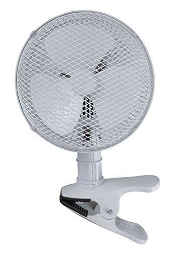(Optimus F-0702 7-Inch 2-Speed Personal Adjustable Clip-On Fan, White)