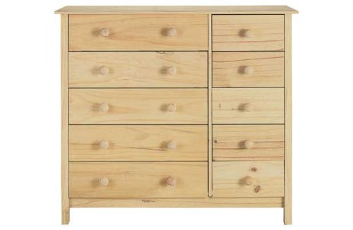 Scandinavia 5 5 drawer chest pine amazon co uk kitchen home
