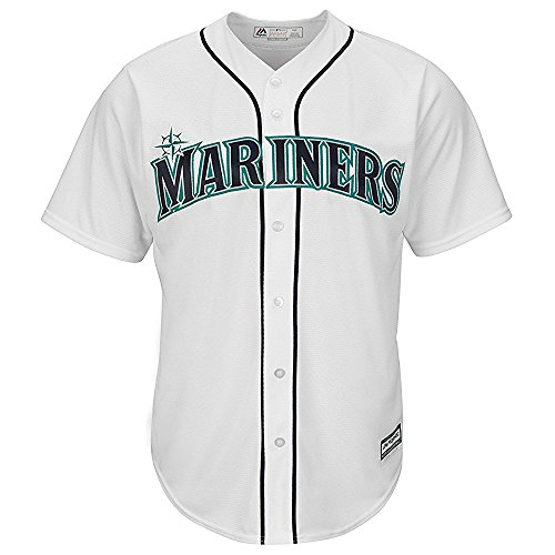 Mariners Youth Replica Jersey - Majestic Robinson Cano Seattle Mariners MLB White Home Cool Base Replica Jersey (Youth Large 14-16)