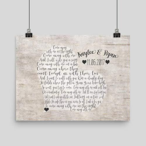 Amazoncom Wedding Song Gift Song Lyric Artwork