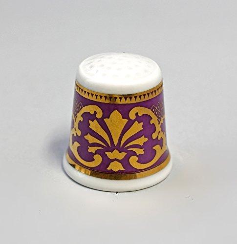 Porcelana Dedal Ornament (Oro/Morado)