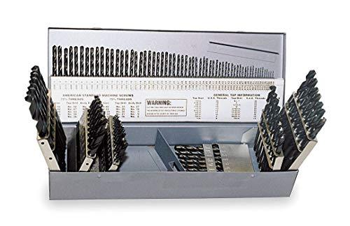 Chicago-Latrobe Jobber Drill Bit Set, Cobalt Steel, Fraction