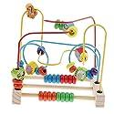 Sharplace 木製 知育玩具 ビーズ 智力 迷宮 迷路遊び 知能 おもちゃ 空間認識 子供知育ゲーム 全2色 - 動物