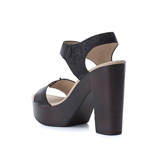 Sandalias con Plataforma 046601 XTI Negro para Black Mujer FHq8n