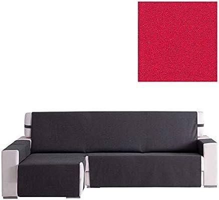 Jarrous Cubre Sofá Chaise Longue Modelo Arizona, Color Rojo-5, Medida 280cm · Brazo Derecho (Mirándolo de Frente)