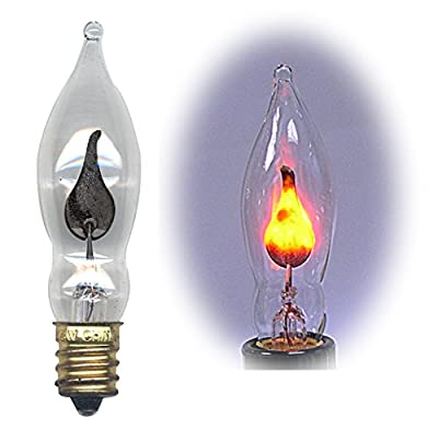 Flicker Flame Light Bulb Dances with a Flickering Orange Glow (Pkg/10)