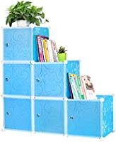 Cubic book organizer, blue