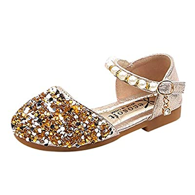 Baby Girls' Shoes for Kids Toddler Soft Sole Bling Sequins Princess Dress Shoes Summer Sandals