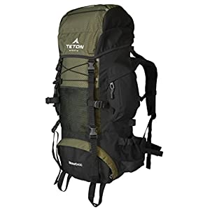 Teton Sports Scout 3400 Internal Frame Backpack; High-Performance Backpack for Backpacking, Hiking, Camping; Sewn-in Rain Cover; Hunter Green